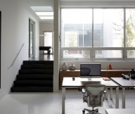 Black Small Stairs White Floor Home Workplace Wooden Drawers