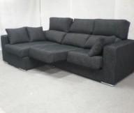 Black Sofa Modern Look Minimalist Design White FLoor