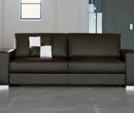 Black Sofa White Hue Minimalist Look Modern Design