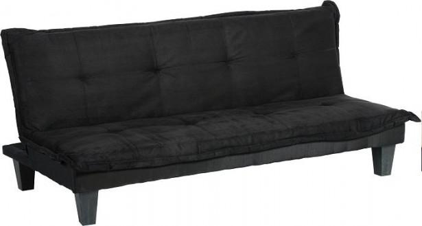 Black Sofa Wooden Legs Minimalist Look Modern Sense