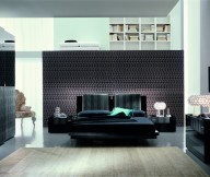 Black Theme Small Bed Room Designs