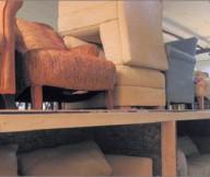 Blue Sofa Cream Sofas Wooden Rack Wooden Legs