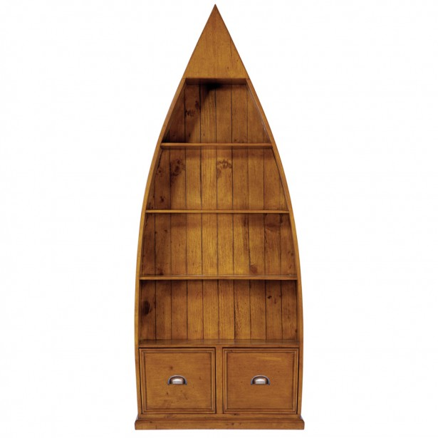 Boat Shape Wooden Material Two Drawers Taper Top