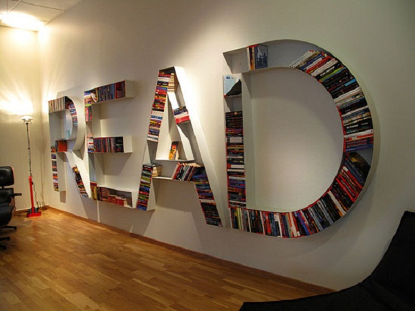 Bookshelf Designs Letter Shelves in READ