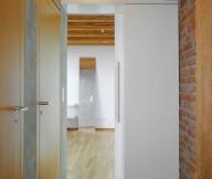 Brick Wall Wooden FLoor Wooden Doors Grey Wall