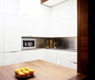 Bright white kitchen furniture La coruna apartment  Inspiring dining table
