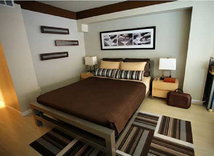 Brown Small Bed Room Designs