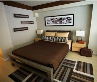 Brown Theme Small Bedroom Design