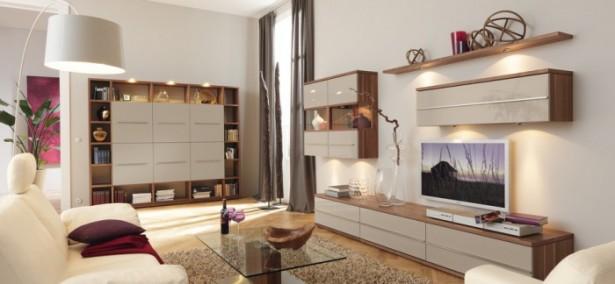 Brown White Wooden Shelves White Wooden Cabinets Glass Table Wooden Shelves