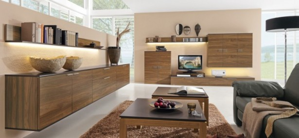 Brown Wooden Cabinets Brown Wooden Television Cabinet Brown Rug Grey Sofa