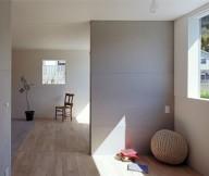 Bulb light Rustic wood floor Glass bay window Fresh indoor plant