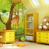 Childrens Photo Wallpapers Design yellow drawers bear dool