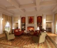 Classic Interior Designs unique carpet modern fireplace romantic atmosphere