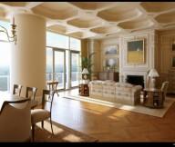 Classic Interior Designs wooden floor living room unique ceiling