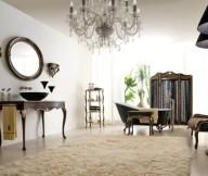 Classic Italian Interiors creame rug classic mirror white wall
