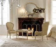 Classic Italian Interiors unique fireplace classic round mirror