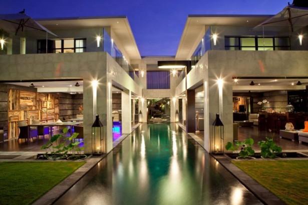 Colorful-hidden-light-Classy-interior-Long-rectangle-swimming-pool-Unique-garden-light