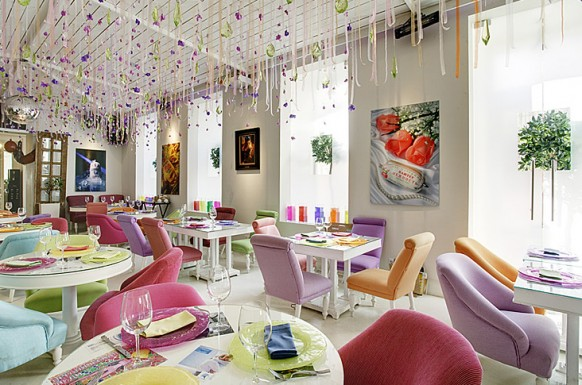 Colourfull chairs awesome restaurant design Inspirational Restaurant Interior Designs