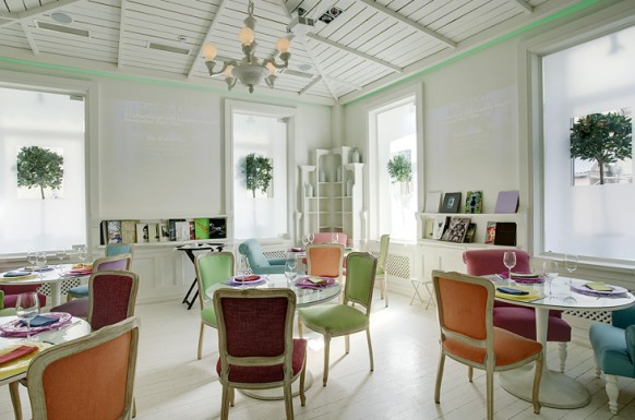 Colourfull chairs pretty restaurant interiors Inspirational Restaurant Interior Designs