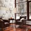 Contemporary house Precious floor lamp Leather sofa Laminate flooring