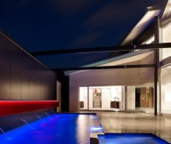 Contemporary swimming pool Robert street house Soft pool lights