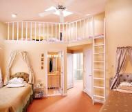 Cool Rooms for Girls Orange Carpet Floor Orange Wall White Fan White Door