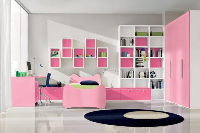 Cool Rooms for Girls Pink Cabinets Black Carpet Pink Cupboard Pink Desk