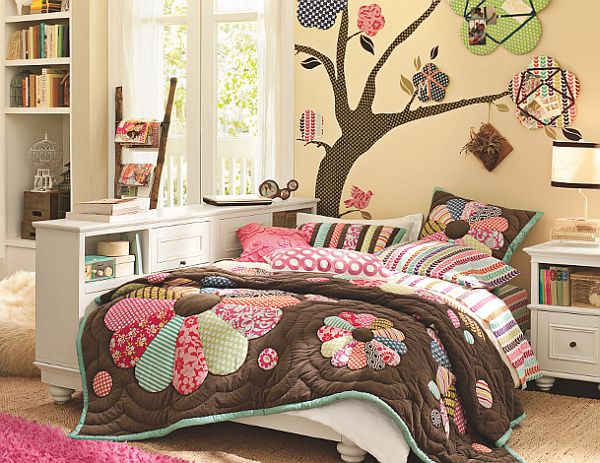 Cool Rooms for Girls White Bed Brown Carpet Wide Windows
