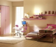 Cool Rooms for Girls Yellow Wall Wooden Floor