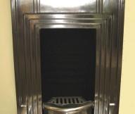 Copper Fireplace Minimalist Look Classic Design Brown FLoor