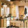 Country Style Kitchens black marble table wooen door steel faucet