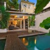 Courtyard Design and Landscaping pool wooden deck