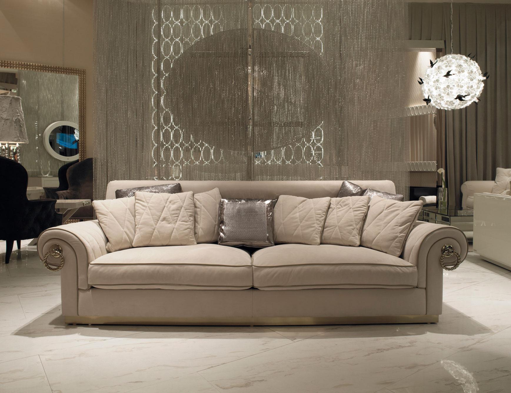 Cream Color Silver Cushions Cream Marble FLoor Vintage Chandelier