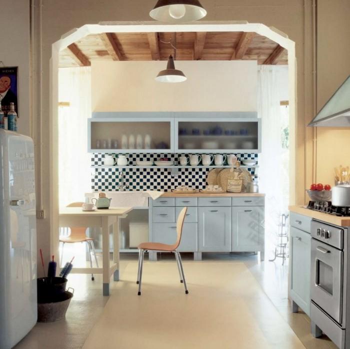 Cream Floor Cream Wall Grey Counters Minimalist Lamps