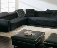 Cream Rug Black Sofa Minimalist Look White Wall