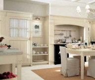 Cream Rug White FLoor White Wall Ivory Color Cabinets