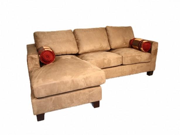 Cream Sofa Three Seats Velvet Look Modern Sense