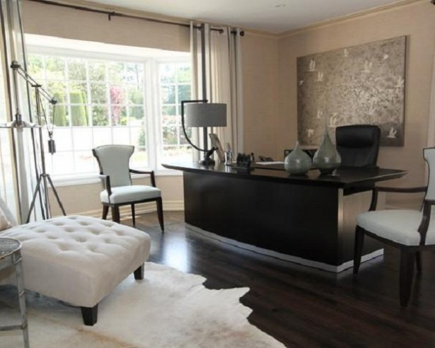 Cream Wall White Curtain Woodne Floor White Rug