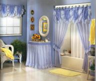 Curtain Designs for Windows Blue Vinyl Bathroom Curtains White Bath tub Cream Rattan Chair