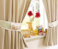Curtain Designs for Windows Brown Curtains Brown Bear Curtain Roles Cream Wall Red Flower