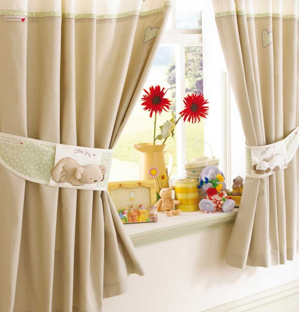 Curtain Designs for Windows Brown Curtains Brown Bear Curtain Roles Cream Wall Red Flower