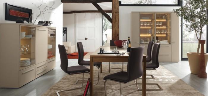 Dark Brown Chairs Cream Carpet Cream Cabinets