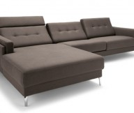 Dark Brown Color Minimalist Look Modern Design Metal Legs
