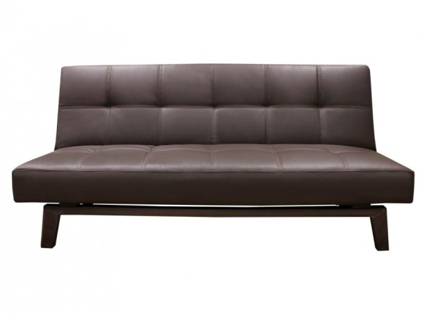 Dark Brown Sofa Minimalist Look Modern Sense Medium Size