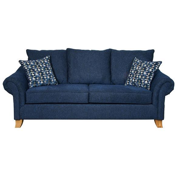 Dark Brown Sofa Typical Motive Cushions Wooden Legs Two Seats