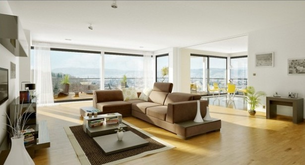 Diegoreales Neutral living room Bachelor Pad Ideas wooden floor