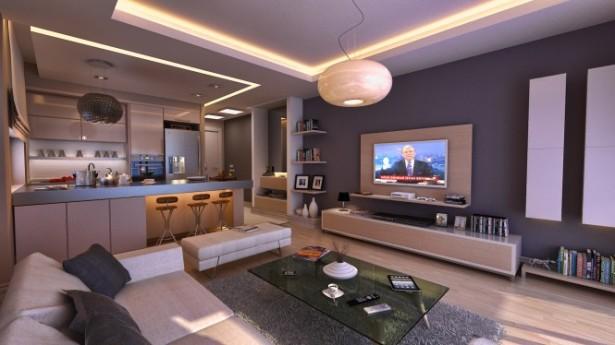 Elftug open plan apartment Bachelor Pad Ideas glass table