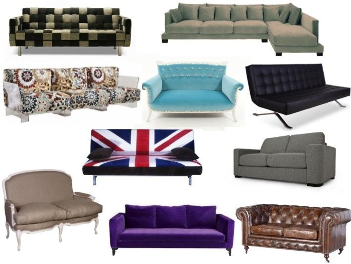 England Flag Sofa Vintage Motive Sofa CLassic Sofa Black Sofa