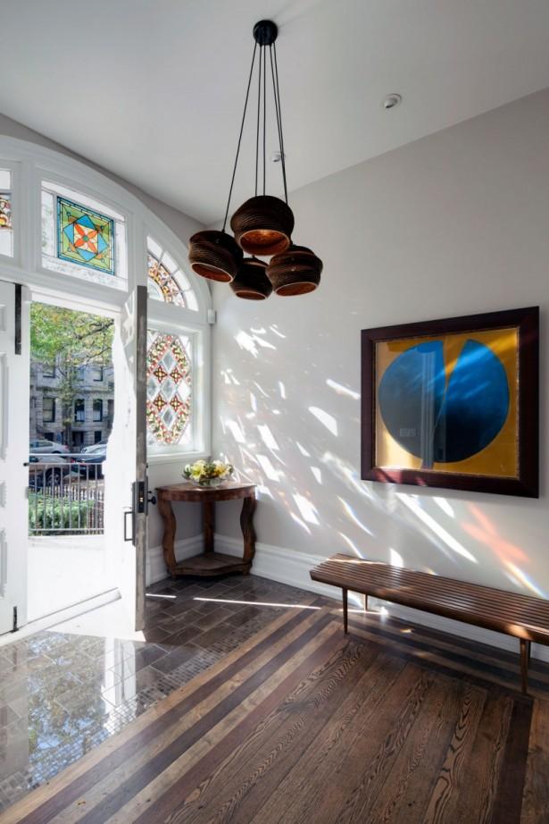Ethnic Chandelier Wooden Floor White Wall White Door
