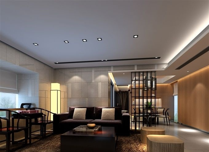 Exercise In Interior Adaptation White Ceiling Living Room Lighting